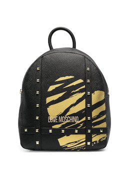 Love Moschino heart print studded backpack JC4077PP1CLG1