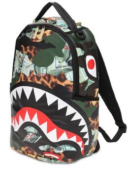 Рюкзак С Принтом Hero Shark Sprayground 73IY0Y005-TVVMVElDT0xPUg2