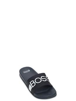 Резиновые Шлёпанцы С Логотипом Hugo Boss 73IOFS098-ODQ50
