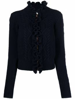 See By Chloe ruffle-trim cable-knit cardigan CHS21SMC04530