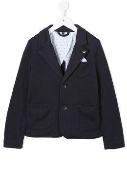 Emporio Armani Kids пиджак с накладными карманами 3Z4G014JFBZ15K5