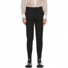 System Black Wool Tailored Trousers SH2B1WPCT03M