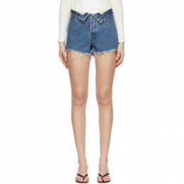 Alexander Wang Blue Bite Flip Shorts 4DC1214901