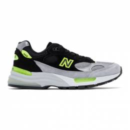 New Balance Grey and Black Made In US 992 Sneakers M992TQ