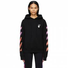 Off-White Black Marker Hoodie OMBB034R21FLE0031032