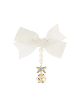 Erdem crystal embellished bow brooch PS211386BLCIG