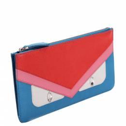 Fendi Multicolor Monster Leather Clutch Bag 382369