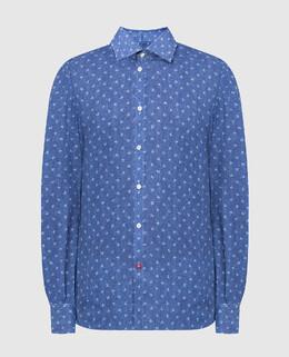 Синяя рубашка Isaia 2300006578144