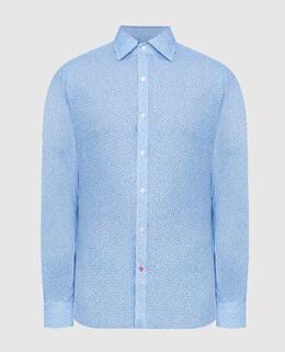 Голубая рубашка Isaia 2300006580307
