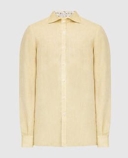 Желтая рубашка из льна Isaia 2300006577970