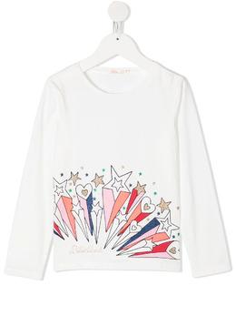 Billieblush футболка с длинными рукавами и принтом U15810121