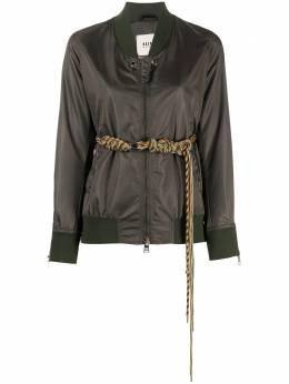 Bazar Deluxe куртка-бомбер с поясом S6703400