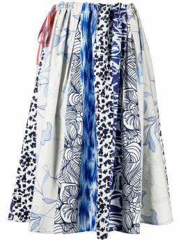 Pierre-louis Mascia юбка миди с принтом в технике пэчворк SALATOS10521F