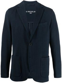 Circolo 1901 фактурный однобортный пиджак CN2974