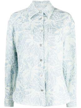 MSGM жаккардовая куртка-рубашка с цветочным узором 3041MDE13217106
