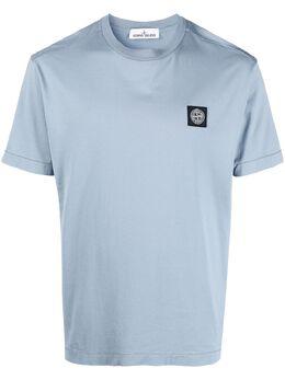 Stone Island футболка с круглым вырезом и нашивкой-логотипом 741524113