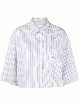 Mm6 Maison Margiela укороченная рубашка в полоску S62DL0043S53665