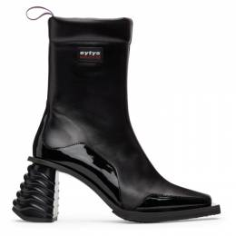 Eytys Black Leather Gaia Boots GALB