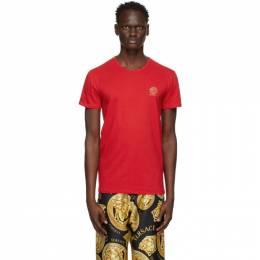Versace Underwear Red Medusa Logo T-Shirt AUU01005 A232741
