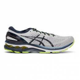 Asics Grey and Navy Gel-Kayano 27 Sneakers 1011A767