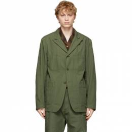 Engineered Garments Green Cotton Ripstop Bedford Jacket 21S1D005