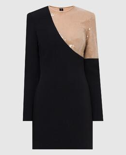 Черное платье David Koma 2300006603969
