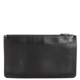 Fendi Black Monster Leather Clutch Bag 382296