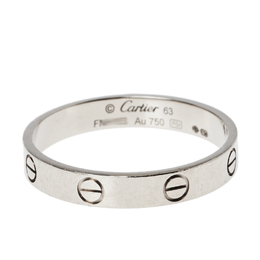 Cartier Love 18K White Gold Wedding Band Ring Size 63 384957