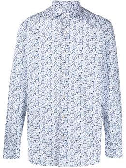 Finamore 1925 Napoli рубашка с цветочным принтом 081179M0009