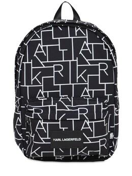 Рюкзак Из Нейлона С Принтом Karl Lagerfeld 73IOFO046-MDlC0