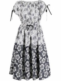 Moncler платье со вставками и цветочным принтом G10932G712105956S