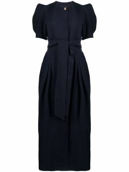 Gabriela Hearst платье макси с пышными рукавами 321415W026