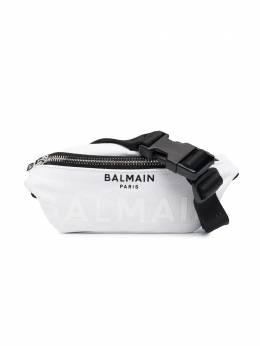 Balmain Kids поясная сумка с логотипом 6O0538OC890