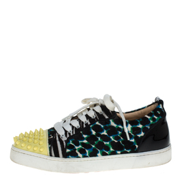 Christian Louboutin Multicolor Calf Hair Junior Spike Sneakers Size 37 386236