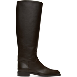 Brock Collection Brown Flat Riding Boots BR35113A