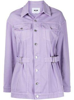 MSGM джинсовая куртка с поясом 3041MDH45T217279
