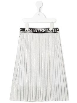 Karl Lagerfeld Kids плиссированная юбка с логотипом и эффектом металлик Z13070
