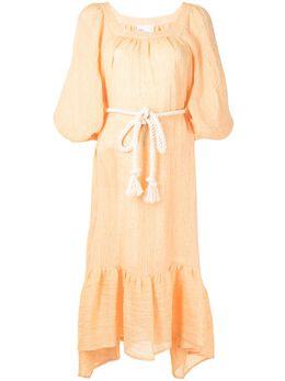 Lisa Marie Fernandez платье миди Laurie со сборками 2020HS207