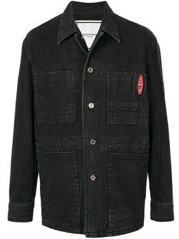 Wooyoungmi однобортная джинсовая куртка W211JP12BLACK