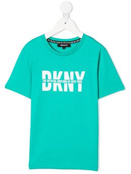 DKNY Kids футболка с круглым вырезом и логотипом D25D26