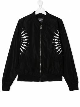 Neil Barrett Kids куртка с принтом Thunderbolt 027895