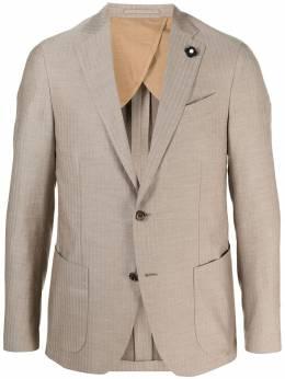 Lardini однобортный пиджак в полоску EL443AEELA56435