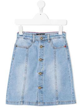 Molo джинсовая юбка на пуговицах 2S21D111
