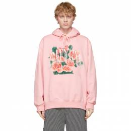Doublet Pink Not Valentine Embroidery Hoodie 21SS31CS176