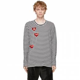 Doublet White and Black Happy Balloons Long Sleeve T-Shirt 21SS30CS184