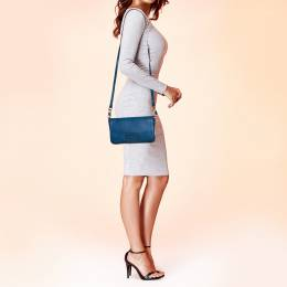 Marc Jacob's Blue Leather Too Hot To Handle Crossbody Bag Marc By Marc Jacobs 385339
