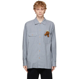 Doublet Blue Check With My Friend Shirt 21SS15SH91