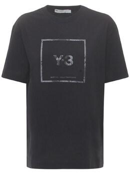 Футболка С Логотипом Y-3 73I0E6008-QkxBQ0s1