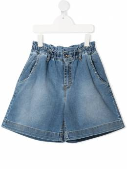 MSGM Kids шорты с присборенной талией 026816