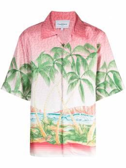 Casablanca рубашка с короткими рукавами и принтом MS21SH003